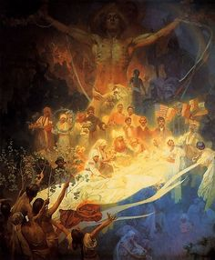 Apotheosis by Alphonse Mucha from the Slav Epic