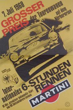 Grand Prix torenwagen Porsche original poster by Anonymous