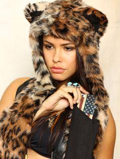Spirit hood :: ADULTS :: Women's Full Hoods :: Leopard