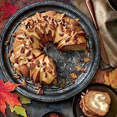 Apple-Spice Bundt Cake with Caramel Frosting   MyRecipes.com
