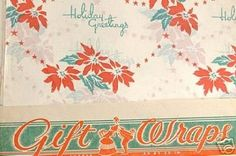 Vintage 1940s Christmas Wrapping Paper 35 Sheets Lot (12/06/2006)