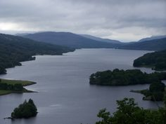 Queen's View, Pitlochry, loch in the shape of Scotland