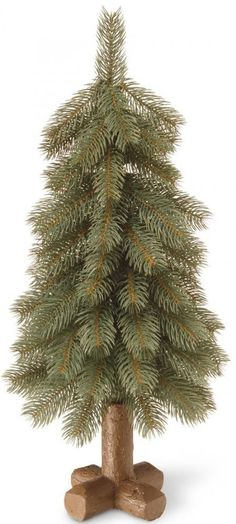 Christmas Bayberry Blue Cedar Tree Frosted Branch Tips Tabletop Holiday Decor #ChristmasTree #Tree #BayBerry #Cedar #CearFaux #BarkTree #CrossWoodBase #Christmas #ChristmasDecor #Holiday #Seasonal #HomeDecor #HolidayDecor #Decor