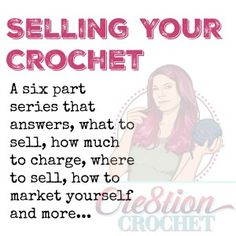 Business Articles One of my biggest goals for Cre8tion Crochet is to help other fellow crafters to find success. Whether it be teaching you how to make your crochet work professional and clean looking, learning how to start a business or a blog, determining how to price your crochet and how to sell for [...]