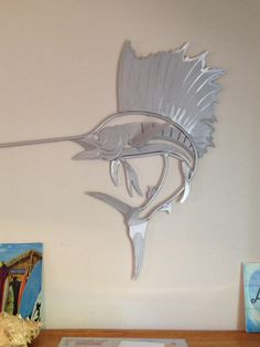 Custom Aluminum Sailfish Wall Art by ThatWelderGuy on Etsy