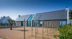 Exterior view. House in Belle-ile-en-Mer, by OPUS 5 architectes.