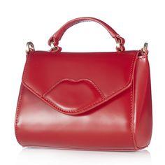Lulu Guinness Izzy Mini Polished Leather Satchel Handbag