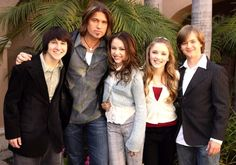 Mitchel Musso, Billy Ray and Miley Cyrus, Emily Osment, and Jason Earles