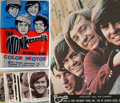 growing up in the 60s remember this | The Monkees Trading Cards | Growing up in the 60's and 70's