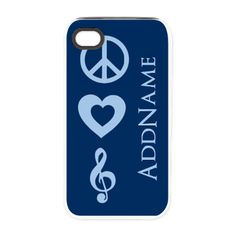 Peace Love Music - Personal iPhone 4/4S Tough Case