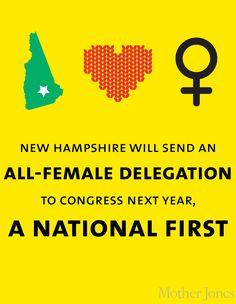 New Hampshire will send an all-female delegation to Congress next year, a national first.
