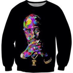 76814187475 Death Row Tupac Sweat Shirt Printed Sweatshirts