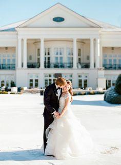 Winter wedding portrait | Robyn Van Dyke