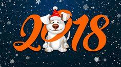 Скачать обои Снег, Новый год, Зима, Минимализм, Год Собаки, 2018, Праздник, Собака, Настроение, Фон, раздел новый год в разрешении 1366x768