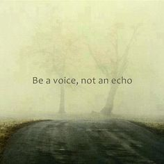 Be a voice, not an echo.This Michelle firmly believes.