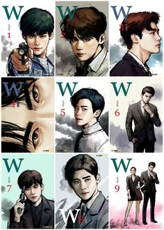 W - two worlds korean drama (kdrama) Lee Jung Suk (Kang Chul) W Korean Drama, Korean Drama Movies, Korean Actors, W Two Worlds Wallpaper, World Wallpaper, Lee Jong Suk Cute, Lee Jung Suk, W Two Worlds Art, Manhwa