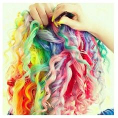 rainbow curls!!