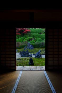 Japanese garden at Komyo-in temple, Kyoto, Japan