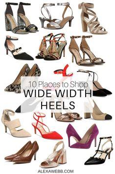 84b13d81ebd 10 Places to Shop Wide Width Shoes - Wide Heels - Plus Size Fashion for  Women