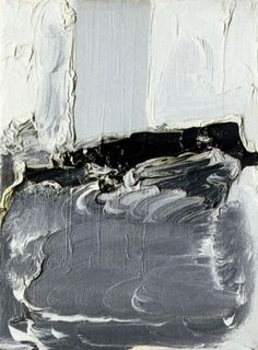 Gerhard Richter, Untitled, Abstracts, oil on canvas Gerhard Richter, Cy Twombly, Black And White Painting, White Art, Willem De Kooning, Armin, Art Blanc, Pop Art, European Paintings