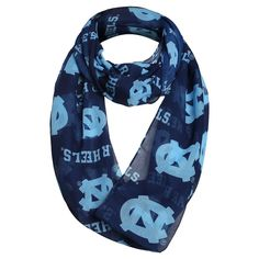Fashion Scarves NCAA North Carolina Tar Heels Solid Blue, Women's