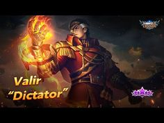 "The all-new Starlight Skin: Valir ""Dictator"" will soon be available. Alucard Mobile Legends, Wonder Woman, Superhero, Youtube, Anime, Movie Posters, Movies, Fictional Characters, Films"