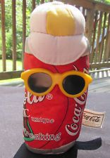 5 Coca Cola bean bag plush can sunglasses Soda drink