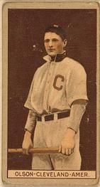 1912 Brown Backgrounds T207 #145 Ivy Olson Front