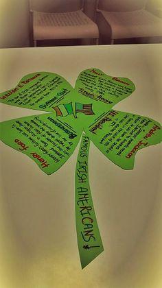 Famous Irish Americans #StPatrick'sDay (text from education.com) Irish Americans, Teaching Ideas, Education, Onderwijs, Learning