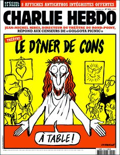 Charlie Hebdo 2011 Tragic Comedy, Christian Cartoons, Jesus Cartoon, Le Diner, Le Point, Satire, Religion, Images, Shigeru