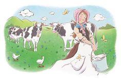 Просмотреть иллюстрацию Доярка и ведро из сообщества русскоязычных художников автора Яскина Валентина в стилях: Другое, нарисованная техниками: Смешанная техника.