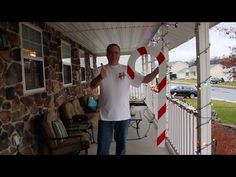 Here's a fun project build video of a candy cane lawn decoration made out of pallet wood! Enjoy!