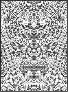 Nature Mandalas sample coloring page Dover | Color It! | Pinterest ...