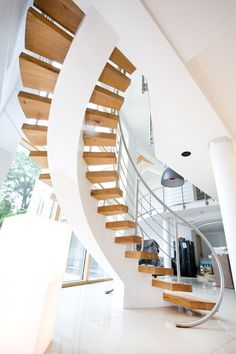 wood spiral staircase #stairs #staircase #spiral #gorgeous