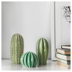 IKEA - SJÄLSLIGT, Decoration, set of green, You can decorate your home with green plants without having to water them, since the cactuses are made from ceramic. and 1 cactus (height dia. Decoration Cactus, Decoration Plante, Table Decorations, Green Plants, Cactus Plants, Cacti, Potted Plants, Ikea Plants, Cactus Art