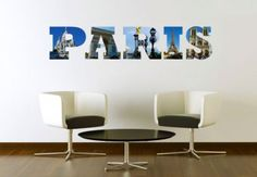 Muurstickers - Impressie van Parijs