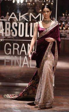 Red Wedding Lehenga, Red Wedding Dresses, Bridal Dresses, Velvet Saree, Cotton Saree Designs, Lehenga Choli Online, Saree Shopping, Elegant Saree, Lakme Fashion Week