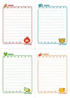 adorable stationery paper // printables
