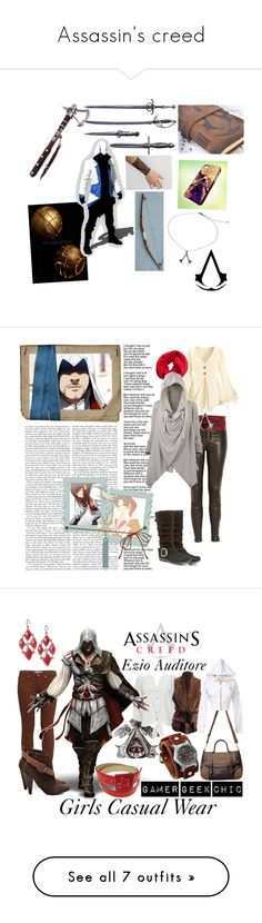 """Assassin's creed"" by eleanor-kenway ❤ liked on Polyvore featuring EDEN, J Brand, B-Low the Belt, Me & Kashmiere, White Mountain, firenze, assassin, female, brotherhood and ezio auditore"