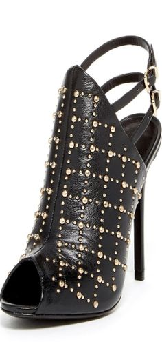Schutz Abelarda Studded Heel by Non Specific on Bootie Boots, Shoe Boots, Shoes Heels, Pumps, Studded Sandals, Luxury Shoes, Fashion Shoes, Women's Fashion, Designer Shoes