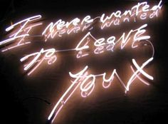 I never wanted to leave you (by Tracey Emin)