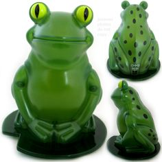 NEW NIB BOX AVON Green LIGHTED FROG Plastic FIGURINE Animal Indoor Table Décor $29.98 .. we sell more home decors decorations at http://www.tropicalfeel.com