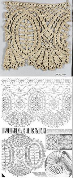 If you looking for a great border for either your crochet or knitting project, check this interesting pattern out. When you see the tutorial you will see that you will use both the knitting needle and crochet hook to work on the the wavy border. Gilet Crochet, Crochet Lace Edging, Crochet Borders, Crochet Diagram, Freeform Crochet, Crochet Chart, Thread Crochet, Lace Knitting, Crochet Doilies