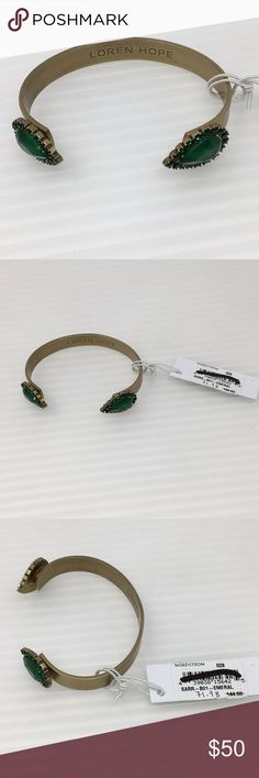 Loren Hope Sarra Cuff Bracelet in Emerald Green New with tags, these are the last I have if you want one now's the time to buy. loren hope Jewelry Bracelets