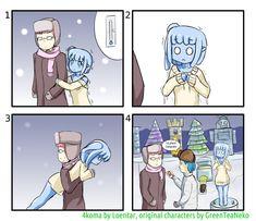[4koma] freezing slimegirl by loentar