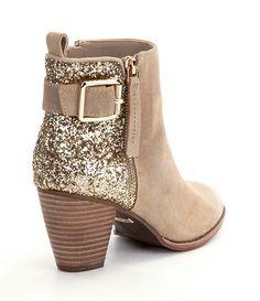 Gianni Bini Sheena Glitter Booties from Dillard's