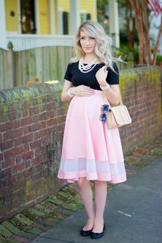 Blush & Black Chic Maternity Skirt Tutorial | J'adore Lexie Couture