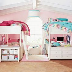 Wonderful and Functional Shared Bedroom Design Ideas for Girls