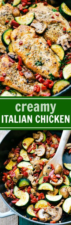 Easy Italian Chicken and Veggies is a delicious meal the whole family will love! This restaurant quality dish is one you'll want to make over and over again!