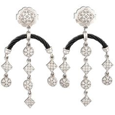 Pre-owned Philippe Charriol Celtic Noir Earrings ($1,250) ❤ liked on Polyvore featuring jewelry, earrings, accessories, white gold drop, pre owned jewelry, twist earrings, 18k jewelry, celtic jewellery and charriol